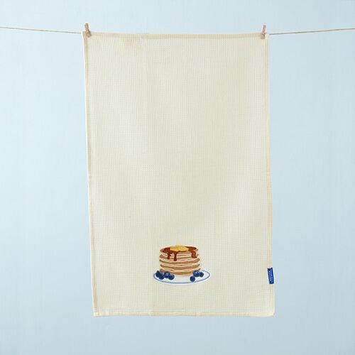 Pancake Embroidered Tea Towel