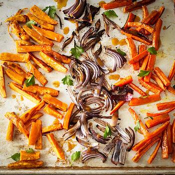 Oven Roasted Glazed Vegetables