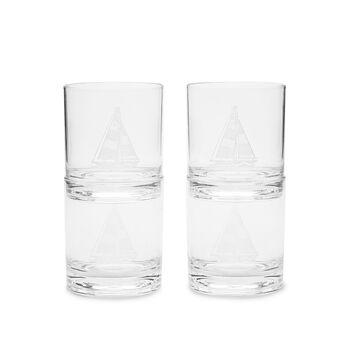 Acrylic Sailboat DOF Glasses