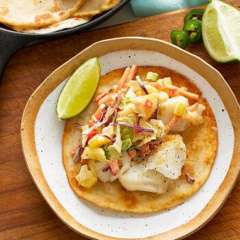 Cuban Mojo Fish Tacos