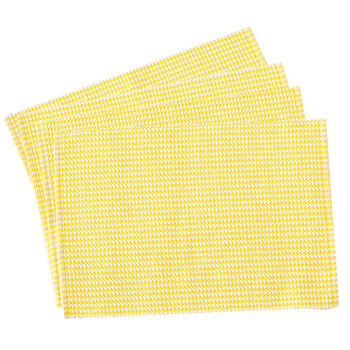 Yellow Houndstooth Placemats