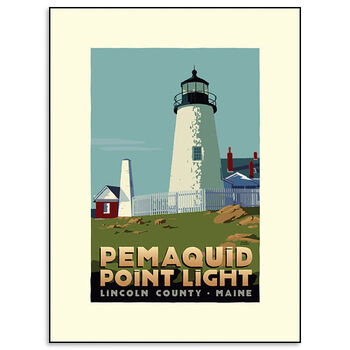 Pemaquid Point Lighthouse Print