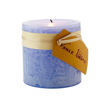 "Marine Blue Pillar Candle - 4"" x 4"""