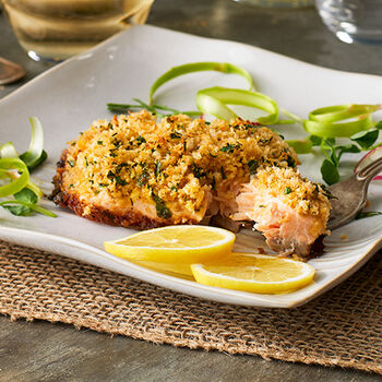 Mustard Crusted Salmon Filets