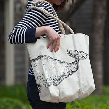 Whale Species Tote - Medium