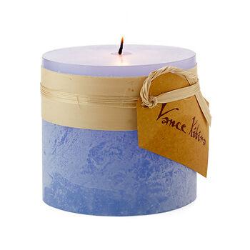 "Marine Blue Pillar Candle - 3"" x 3"""