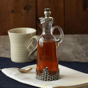 Honeycomb Cruet with Bee