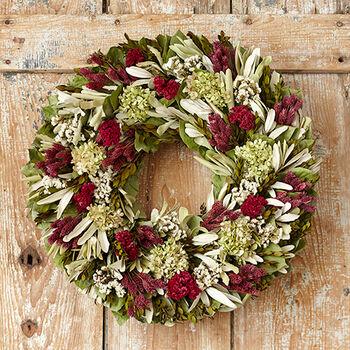Mauve Green Hydrangea Wreath