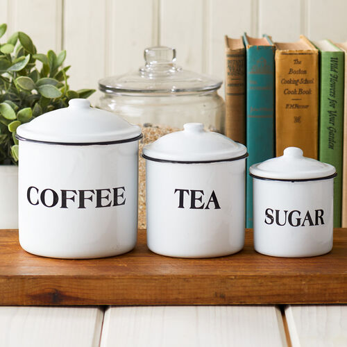 enamel canister set stonewall kitchen