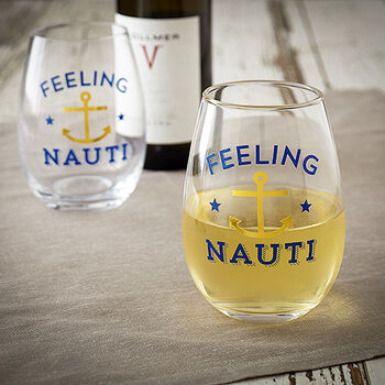 Feeling Nauti Stemless Wine Glass