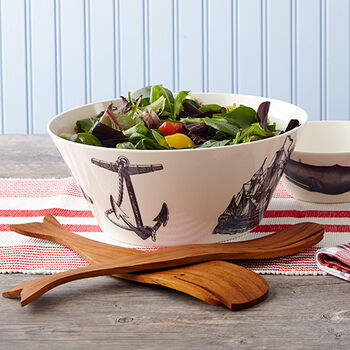 Scrimshaw Serving Bowl
