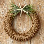 Hampton Wreath with Starfish/Greens
