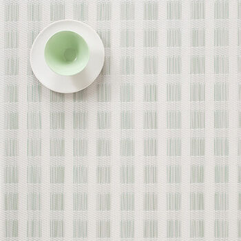 Green & White Check Placemat