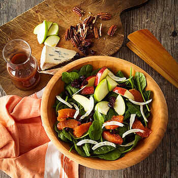 Citrus Apple Spinach Salad