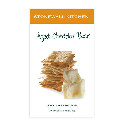 Aged Cheddar Beer Crackers