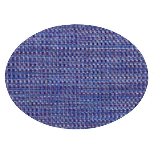 Oval Blueberry Mini Basket Weave Placemat