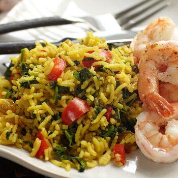 Mango Curried Rice & Vegetable Pilaf