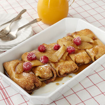 Raspberry Pear Crepes