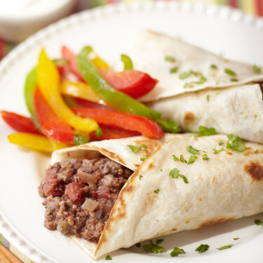 Beefy Bean Burritos