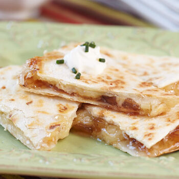 Val Sequilla Cheese and Roasted Onion Quesadilla
