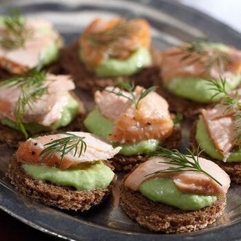 Mini Salmon Wasabi Appetizers