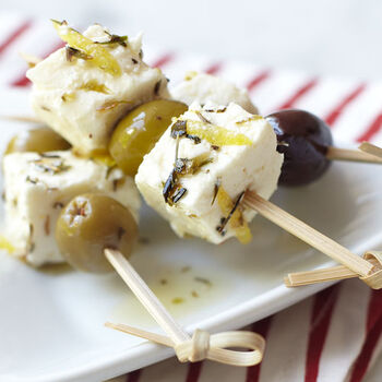 Herbes de Provence Marinated Feta Appetizers