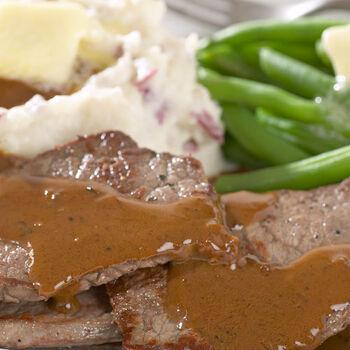 Pan Seared Steaks with Mustard Cream Sauce