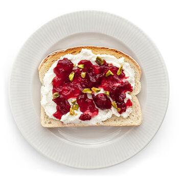 Homemade Ricotta & Jam Toast
