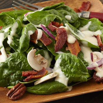 Spinach Salad with Bacon & Pecans