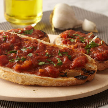 Grilled Bread with Marinara Sauce