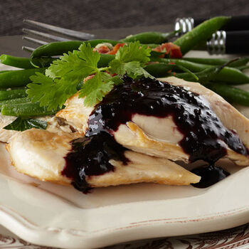 Black Raspberry Chipotle Chicken Cutlets