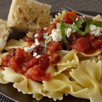 Snappy Tomato Olive Pasta