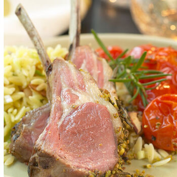 Mustard Encrusted Rack Of Lamb