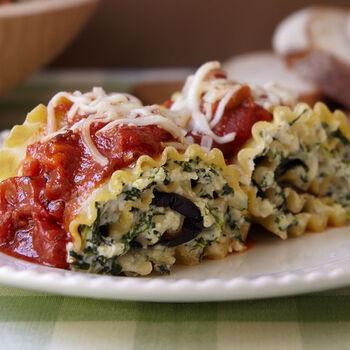 Garden Vegetable Lasagna Roll-Ups