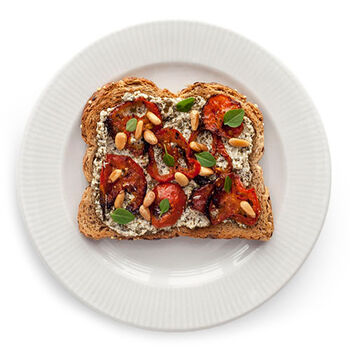 Pesto Roasted Tomato Toast
