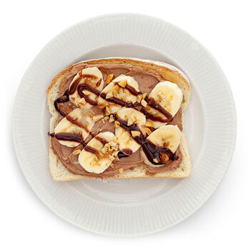Chocolate Peanut Butter & Banana Toast