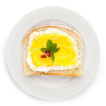 Candied Lemon & Mint Toast