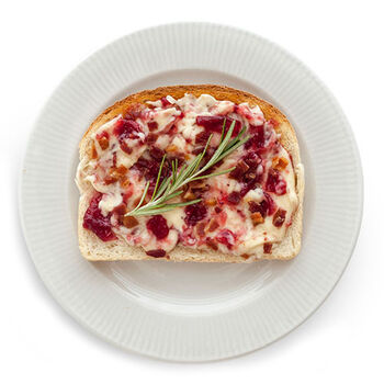 Bacon Cranberry & Brie Toast