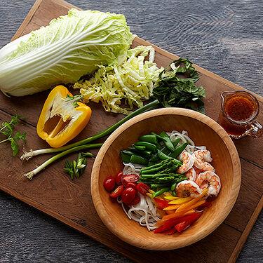 Spicy Thai and Shrimp Pasta