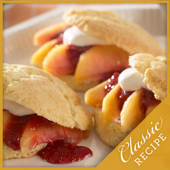 Peach Melba Shortcakes