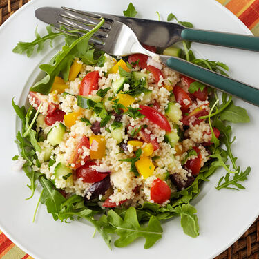 Couscous Salad with Cilantro Lime Dressing
