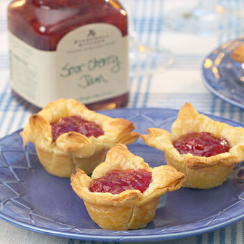 Cherry Cheesecakes in Puff Pastry