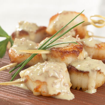 Sea Scallops with Wasabi Mustard Sauce