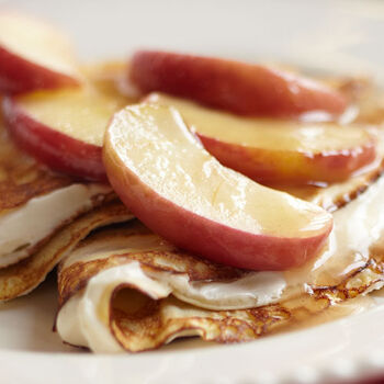 Apple Butter Filled Crepes