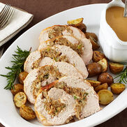 Turkey Roulade with Apple Cranberry Chutney Stuffing