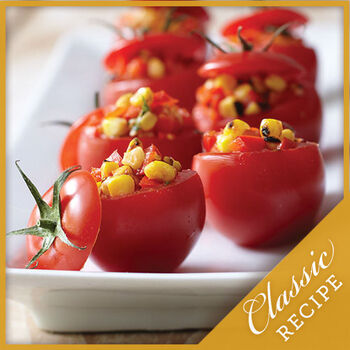 Spicy Corn Relish Stuffed Tomatoes