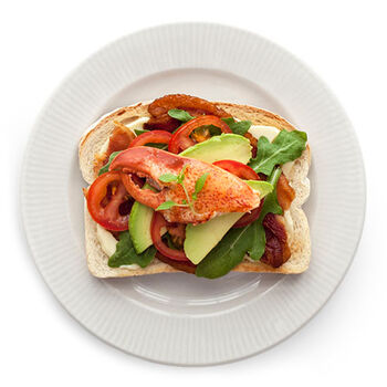 Lobster & Avocado BLT Toast