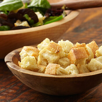 Roasted Garlic or Sweet Basil Oil Croutons