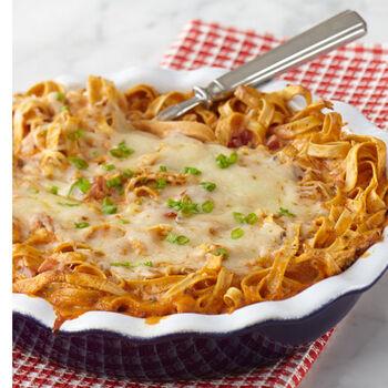 Tomato Basil Pasta Pie