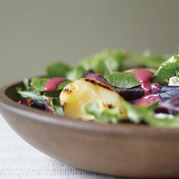 Cranberry Ginger Salad with Grilled Pears and Chicken